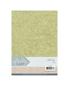 Papir z bleščicani Card Deco - A4 - Gold - 230g - 6 listov