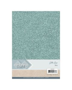 Papir z bleščicani Card Deco - A4 - Mint - 230g - 6 listov