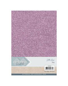 Papir z bleščicami Card Deco - A4 - Pink - 230g - 6 listov