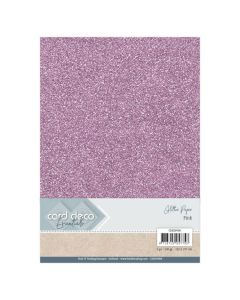Papir z bleščicani Card Deco - A4 - Pink - 230g - 6 listov