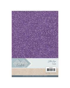 Papir z bleščicani Card Deco - A4 - Purple - 230g - 6 listov