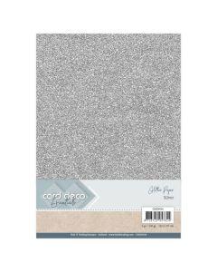 Papir z bleščicani Card Deco - A4 - Silver - 230g - 6 listov