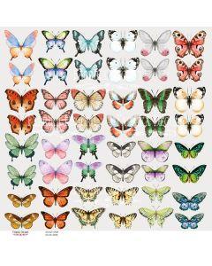 Papir za rezanje - Butterflies 1 - 30x30cm - 200g