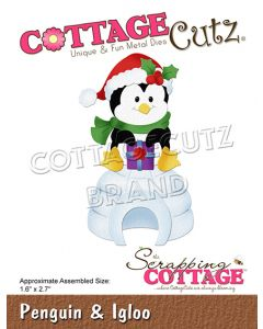 Rezalna šablona CottageCutz Penguin & Igloo