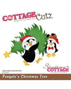 Rezalna šablona CottageCutz Penguin's Christmas Tree