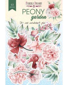 Set izrezov iz papirja -  Peony garden - 63 kos - 250g