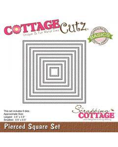 Rezalna šablona CottageCutz Pierced Square Set (Basics)