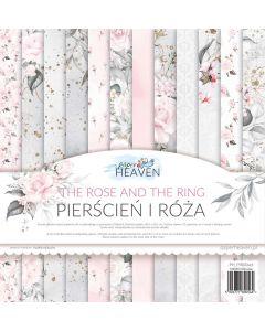 Set dvostranskih papirjev - The rose and the ring - 30,5x30,5cm - 12 listov - 250g