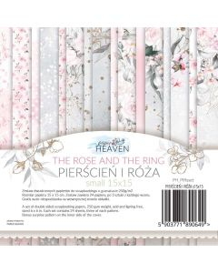 Set dvostranskih papirjev - The rose and the ring - 15x15cm - 24 listov - 250g