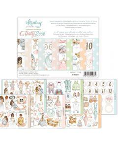 Set dvostranskih papirjev - Baby Book - 15,2x20,3cm - 24 listov - 240g - Mintay