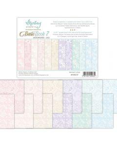 Set dvostranskih papirjev - Basic Book 7 - 15,2x20,3cm - 24 listov - 240g - Mintay