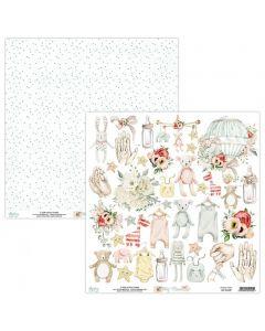 Dvostranski papir - TINY MIRACLE - 30,5x30,5cm - 1 list - 240g - Mintay