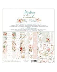 Set dvostranskih papirjev - TINY MIRACLE - 30,5x30,5cm - 12 listov + bonus - 240g - Mintay