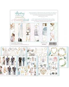 Set dvostranskih papirjev - Wedding Book - 15,2x20,3cm - 24 listov - 240g - Mintay