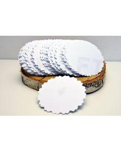Okrogli izrezi iz papirja - beli 3 - 7,8cm - 20 kos - 300 g
