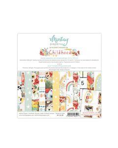 Set dvostranskih papirjev - Childhood - 15X15cm - 24 listov - 240g - Mintay