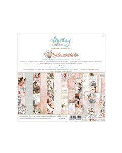 Set dvostranskih papirjev - Florabella - 15X15cm - 24 listov - 240g - Mintay