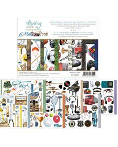 Set dvostranskih papirjev - Men's Book - 15,2x20,3cm - 24 listov - 240g - Mintay