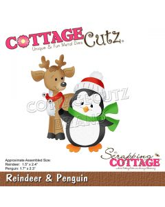 Rezalna šablona CottageCutz Reindeer & Penguin