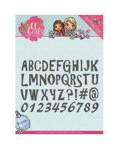 Rezalna šablona Yvonne Creations - Sweet Girls - Lovely Alphabet