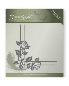 Rezalna šablona Jeanine's Art - With Sympathy - Rose Corner