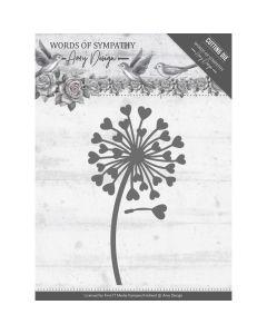Rezalna šablona Amy Design - Words of Sympathy - Sympathy Flower
