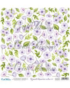 Papir za rezanje - Romantic Memories 1 - 30,5x30,5cm - 250g - Craft Passion