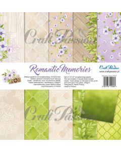 Set dvostranskih papirjev - Romantic Memories - 30,5x30,5cm - 5 listov + naslovnica - 250g - Craft Pasiion