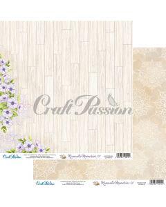 Dvostranski papir - Romantic Memories 01 - 30,5x30,5cm - 250g - Craft Passion