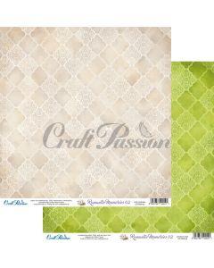 Dvostranski papir - Romantic Memories 02 - 30,5x30,5cm - 250g - Craft Passion
