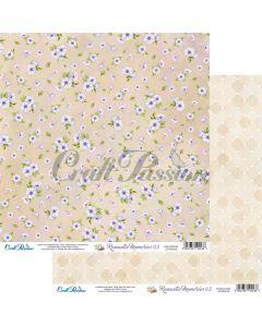 Dvostranski papir - Romantic Memories 03 - 30,5x30,5cm - 250g - Craft Passion