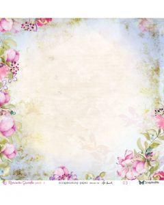 Obojestranski papir - Romantic Garden part1 03/04  30,5 x 30,5 cm