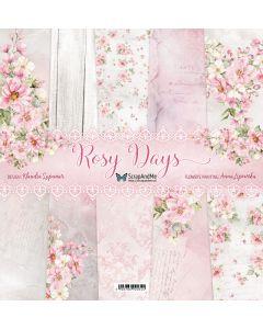 Set dvostranskih papirjev - Rosy Days - 30,5x30,5cm - 5 listov + naslovnica - 250g