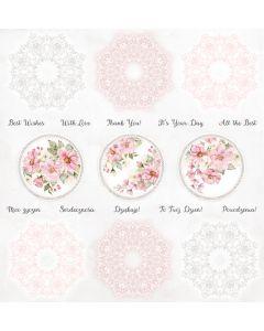 Papir za rezanje - Rosy Days - Cover - 30,5x30,5cm - 250g