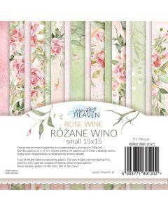 Set dvostranskih papirjev - Rose wine - 15x15cm - 24 listov - 200g
