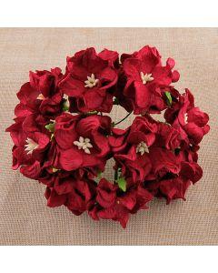 Gardenije - temno rdeče - 35mm - 5 kos