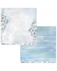 Dvostranski papir - Sapphire Days 01/02 - 30,5x30,5cm - 250g