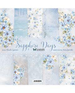 Set dvostranskih papirjev - Sapphire Days - 30,5x30,5cm - 5 listov + naslovnica - 250g