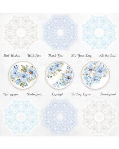 Papir za rezanje - Sapphire Days - Cover - 30,5x30,5cm - 250g