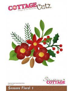 Rezalna šablona CottageCutz Seasons Floral 1