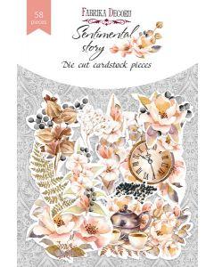 Set izrezov iz papirja - Sentimental story - 58 kos - 250g