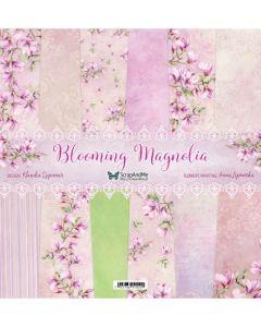 Set dvostranskih papirjev - Blooming Magnolia - 30,5x30,5cm - 7 listov - 250g