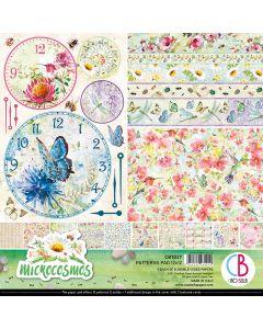 Set dvostranskih papirjev - Microcosmos - vzorci - 30,5x30,5cm - 8 listov - 190g