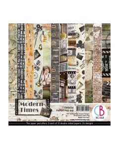 Set dvostranskih papirjev - Modern Times - 15x15cm - 24 listov - 190g