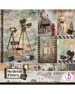 Set dvostranskih papirjev - Modern Times - 30,5x30,5cm - 12 listov - 190g