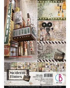 Set dvostranskih papirjev - Modern Times - creative pad - A4 - 9 listov - 190g