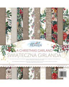 Set dvostranskih papirjev - A Christmas Garland - 30,5x30,5cm - 12 listov - 250g