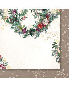 Dvostranski papir - A Christmas Garland 03 - 30,5x30,5cm -250g