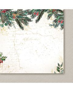 Dvostranski papir - A Christmas Garland 05 - 30,5x30,5cm -250g