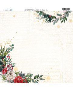 Dvostranski papir - A Christmas Garland 06 - 30,5x30,5cm -250g